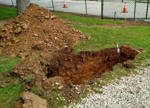 Clem Macrone Park Infiltration trench